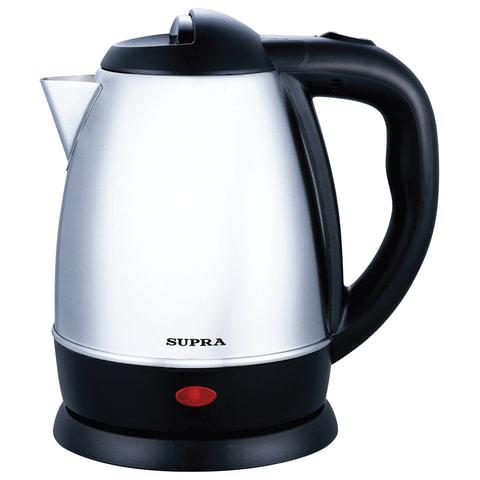 Чайник SUPRA KES-1231, закрытый нагревательный элемент, объем 1,2 л, мощность 1500 Вт, сталь