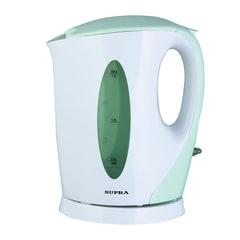 Чайник SUPRA KES-1702, открытый нагревательный элемент, объем 1,7 л, мощность 2200 Вт, пластик, белый с зеленым