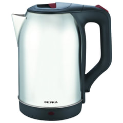 Чайник SUPRA KES-2230, закрытый нагревательный элемент, объем 2,2 л, мощность 2200 Вт, сталь