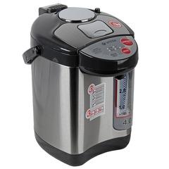 Термопот VITEK VT-1188, 4 л, 750 Вт, 3 температурных режима, 3 режима подачи воды, нержавеющая сталь, черный/серебристый