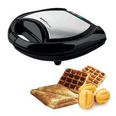 Тостер-вафельница SCARLETT SL-TM11501, мощность 700 Вт, 2 тоста, механическое управление, пластик, черный