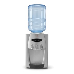 Кулер для воды AEL TC-AEL-228 silver, настольный, нагрев/охлаждение, 3 крана, серебристый