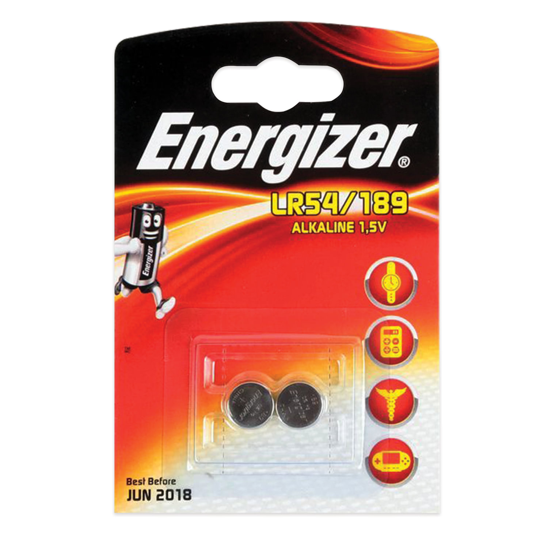 Батарейки ENERGIZER Alkaline 189 (G10, LR54), комплект 2 шт., в блистере, 1,5 В