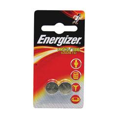 Батарейки ENERGIZER Alkaline 186 (G12, LR43), комплект 2 шт., в блистере, 1,5 В