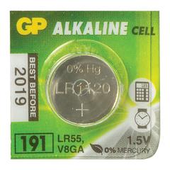 Батарейка GP (Джи-Пи) Alkaline 191 (G8, LR55), 1 штука, в блистере, 1,5 В