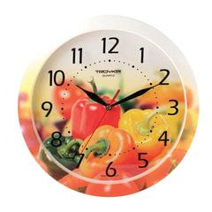 """Часы настенные TROYKA 11000022, круг, с рисунком """"Болгарский перец"""", рамка в цвет корпуса, 29x29x3,5 см"""