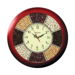"""Часы настенные TROYKA 11131141, круг, """"Часы-специи"""", коричневая рамка, 29х29х3,5 см"""