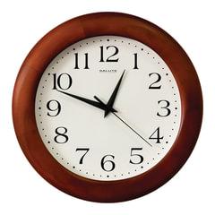 Часы настенные САЛЮТ ДС-ББ28-015, круг, белые, деревянная рамка, 31х31х4,5 см