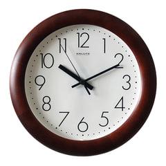 Часы настенные САЛЮТ ДС-ББ29-012, круг, белые, деревянная рамка, 31х31х4,5 см