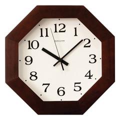 Часы настенные САЛЮТ ДС-ВВ29-021, восьмигранник, белые, деревянная рамка, 31х31х4,5 см