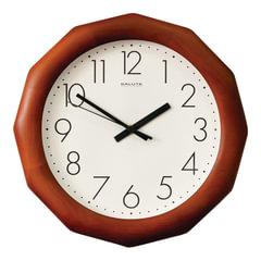 Часы настенные САЛЮТ ДС-ДБ28-012, многоугольник, белые, деревянная рамка, 31х31х4,5 см