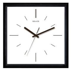 """Часы настенные САЛЮТ П-2А6-139, квадрат, белые, """"Мишень"""", черная рамка, 28х28х4 см"""