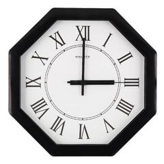 Часы настенные САЛЮТ П-В6-020, восьмигранник, белые, черная рамка, 28х28х4 см