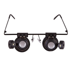 Лупа-очки LEVENHUK Zeno Vizor G2, увеличение х20, диаметр линз 15 мм, подсветка, металл/пластик