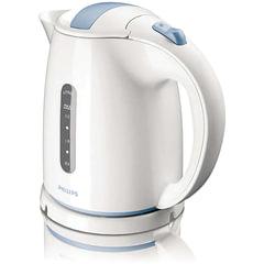 Чайник PHILIPS HD4646/70, закрытый нагревательный элемент, объем 1,5 л, мощность 2400 Вт, пластик, белый/голубой