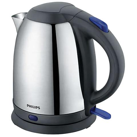 Чайник PHILIPS HD9306/02, закрытый нагревательный элемент, объем 1,5 л, мощность 1800 Вт, сталь, серебристый