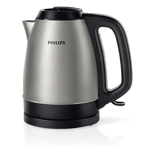 Чайник PHILIPS HD9305/21, закрытый нагревательный элемент, объем 1,5 л, мощность 2200 Вт, сталь, серебристый