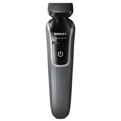 Триммер для бороды и усов PHILIPS QG3327/15, 5 в 1, 3 насадки и 2 гребня, аккумулятор, серый