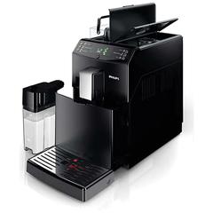 Кофемашина PHILIPS HD8828/09, 1850 Вт, объем 1,8 л, емкость для зерен 250 г, автокапучинатор, черная