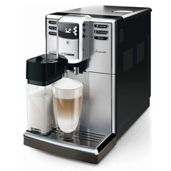 Кофемашина PHILIPS SAECO HD8918/09, 1,8 л, 1850 Вт, 15 бар, емкость для зерен 250 г, автокапучинатор, серебристый