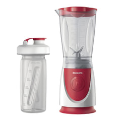 Блендер стационарный PHILIPS HR2872/00, 350 Вт, 1 скорость, чаша 0,6 л, пластик, бутылочка, красный/белый
