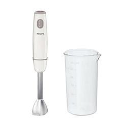Блендер погружной PHILIPS HR1604/00, 550 Вт, 1 скорость, металлическая нога, стакан, белый