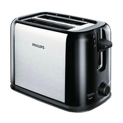 Тостер PHILIPS HD2586/20, 950 Вт, 2 тоста, 7 режимов, металл, черный/серебристый
