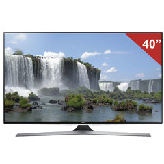 "Телевизор LED 40"" (101,6 см), SAMSUNG 40J6240, 1920x1080 FullHD, 16:9, Smart TV, Wi-Fi, 200Гц, HDMI, USB, черный, 11 кг"