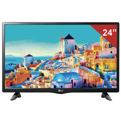 "Телевизор LED 24"" (60,96 см), LG 24LH451U, 1366x768 HD Redy, 16:9, 50 Гц, HDMI, USB, черный, 3,4 кг"