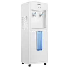 Кулер для воды HOT FROST V118R, напольный, водораздатчик, без нагрева и охлаждения, 2 крана, белый