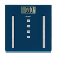 Весы напольные BOSCH PPW3320, электронные, вес до 180 кг, квадратные, стекло, синие