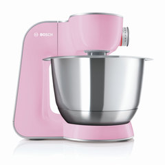 Кухонная машина BOSCH MUM58K20, 1000 Вт, 7 скоростей, блендер, 6 насадок, розовая