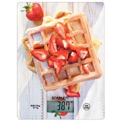 """Весы кухонные SCARLETT SC-KS57P16 """"Выпечка"""", электронный дисплей, max вес 5 кг, тарокомпенсация, стекло"""