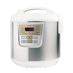 Мультиварка SCARLETT SC-MC410S19, 800 Вт, 5 л, 11 программ, таймер, белая/серебро