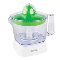 Соковыжималка SCARLETT SC-JE50C05, для цитрусовых, 40 Вт, 800 мл, пластик, белый/зеленый