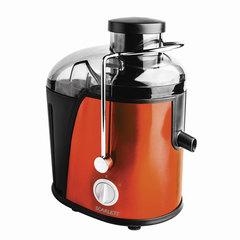 Соковыжималка SCARLETT SC-JE50S16, 850 Вт, стакан 0,35 л, емкость для жмыха 1 л, пластик, оранжевый/черный
