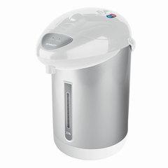 Термопот SCARLETT SC-ET10D10, 2,5 л, 750 Вт, 1 температурный режим, ручной насос, сталь, белый/серебристый