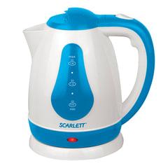 Чайник SCARLETT SC-EK18P29, 1,8 л, 1700 Вт, закрытый нагревательный элемент, пластик, белый/синий