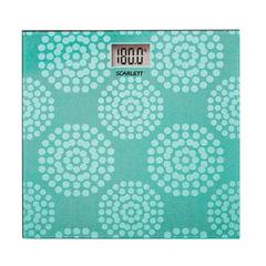 Весы напольные SCARLETT SC-BS33E073, электронные, максимальная нагрузка 180 кг, квадратные, стекло с рисунком