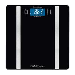 Весы напольные SCARLETT SL-BS34ED42, электронные, 3в1, максимальная нагрузка 150 кг, квадратные, стекло, черные