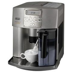 Кофемашина DELONGHI ESAM3500, 1350 Вт, объем 1,8 л, емкость для зерен 180 г, автокапучинатор, серебристая