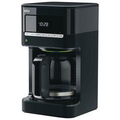 Кофеварка капельная BRAUN KF7020, 1000 Вт, объем 1,5 л, автоотключение, электронное управление, черный