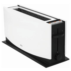 Тостер BRAUN HT500 WH, 1080 Вт, 1 тост, 7 режимов, разморозка, подогрев, белый
