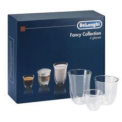 Набор кофейный DELONGHI Mix Glasses Set, 2 эспрессо, 2 капучино, 2 латте, стекло, прозрачный