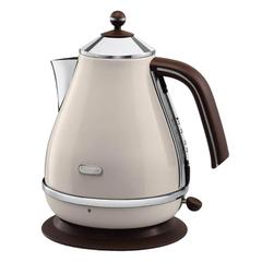 Чайник DELONGHI KBOV2001.BG, 1,7 л, 2000 Вт, скрытый нагревательный элемент, сталь, бежевый