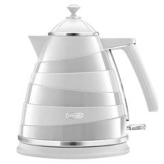 Чайник DELONGHI KBA2001.W, 1,7 л, 2000 Вт, скрытый нагревательный элемент, сталь/пластик, белый
