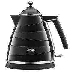 Чайник DELONGHI KBA2001.BK, 1,7 л, 2000 Вт, скрытый нагревательный элемент, сталь/пластик, черный