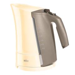 Чайник BRAUN WK-300.CREAM, 1,7 л, 2200 Вт, скрытый нагревательный элемент, пластик, кремовый/серый