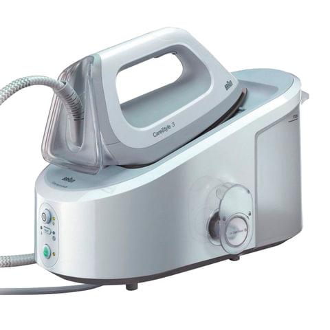 Парогенератор BRAUN IS3041WH, 2400 Вт, 5 Бар, пар 120 г/мин, паровой удар 310 г/мин, 2 л, белый