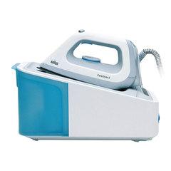 Парогенератор BRAUN IS5022, 2400 Вт, 6 Бар, пар 120 г/мин, паровой удар 340 г/мин, 1,4 л, белый/голубой